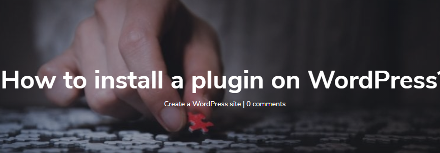 How to install a plugin on WordPress
