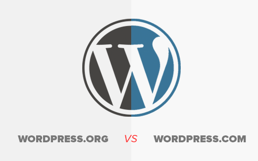 What is the main difference between WordPress.com and WordPress.org?