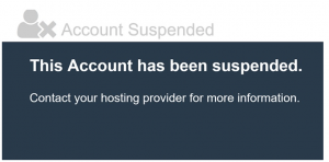 What does CGI sys suspended page CGI mean