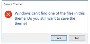 Windows can't find one of the files in this theme