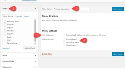 How to Create and Control menus in WordPress