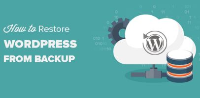 How do I backup and restore to the WordPress site