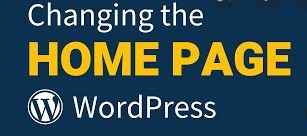 How To Changing of homepage and the blog page in WordPress