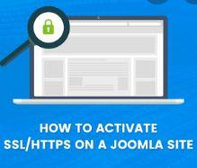 Apply SSL on the Joomla site