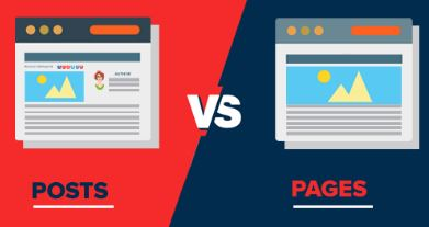 main difference between posts and pages in WordPress